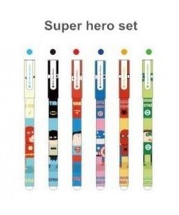 Set  Superhéroes Boligrafos Colores