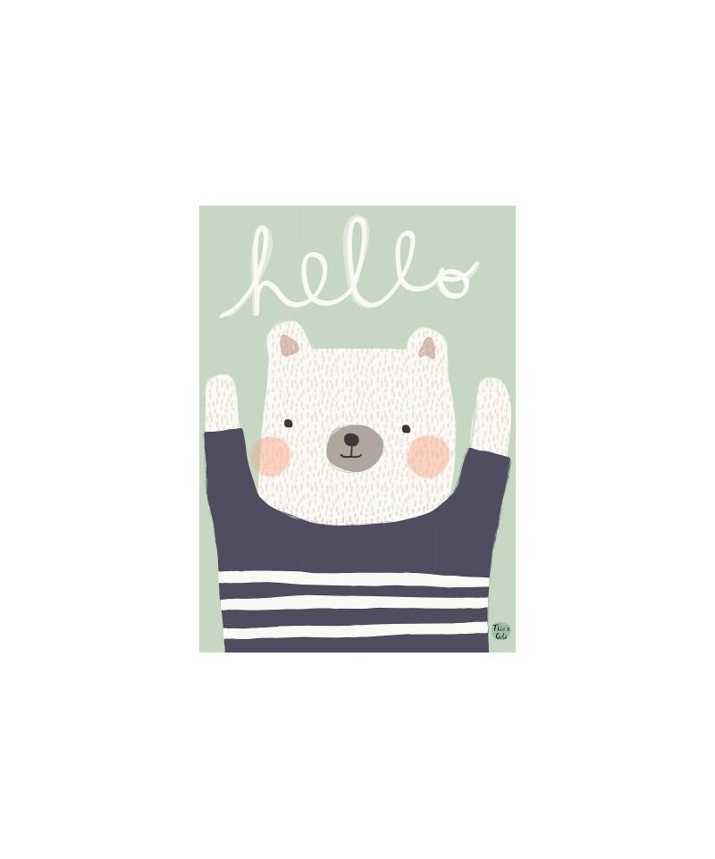 Lámina Hello Polar Bear
