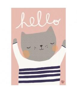 Lámina Hello Cat