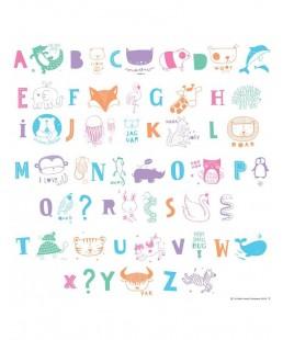 Set de Letras ABC y animales para Lightbox