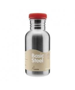 Botella 500 ml Laken de acero inoxidable Tapon rojo