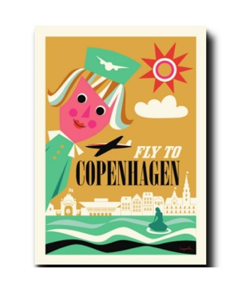 Lámina Fly to Copenhagen de Ingela P. Arrhenius