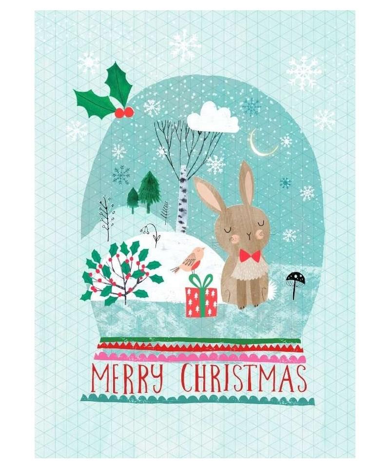 Postal Merry X-Mas polar bear de Rebecca Jones