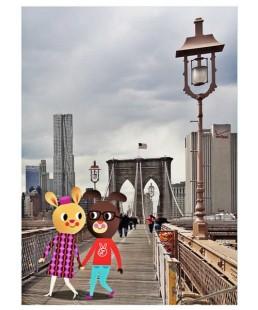 MINI PRINTS FRIENDS FROM NEW YORK