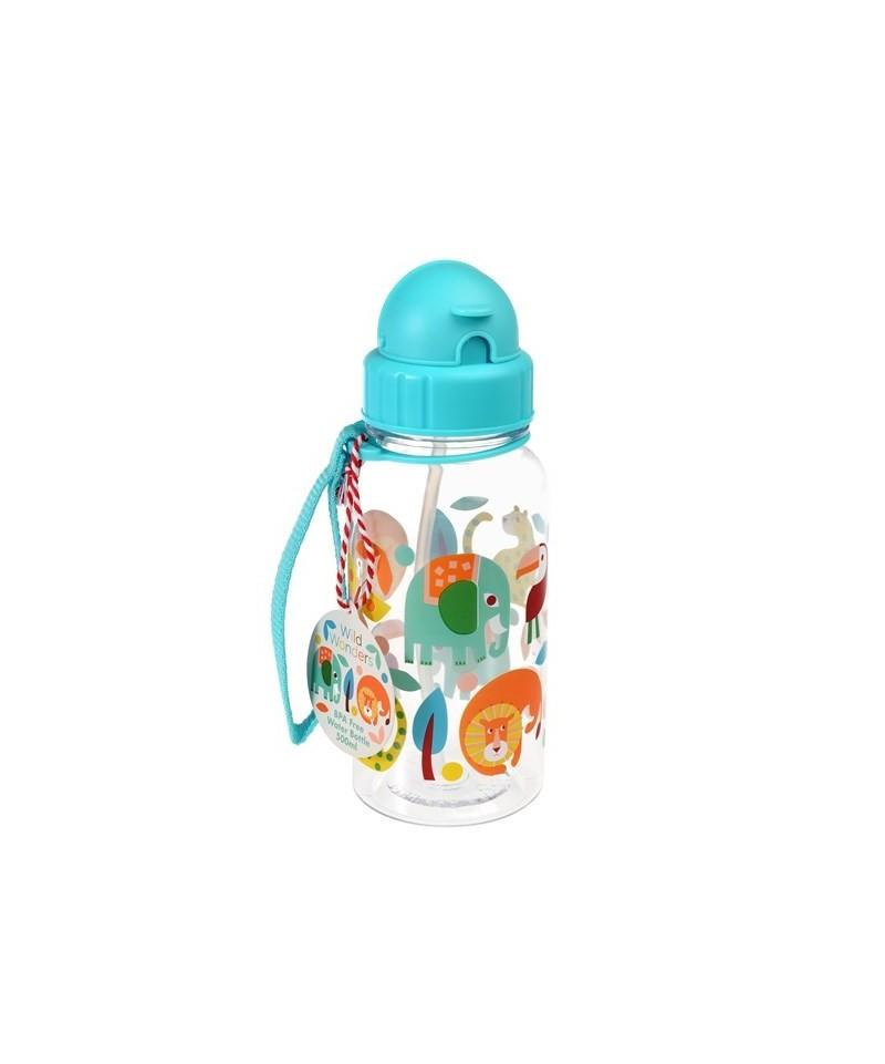 Botella con Pajita Wild Wonders de Rex London
