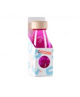 Botella Sensorial Rosa  Flotante de Petit Boum