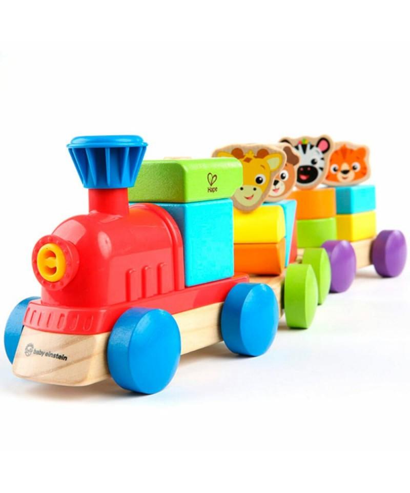 Tren de Bloques animales de Hape