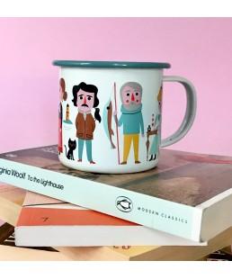 Taza Enamel Book Lover de Ingela P. Arrhenius