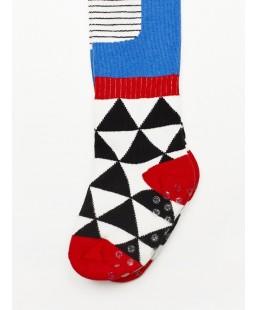 Leotardos Triangle Toes Blue