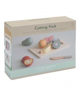 Frutas de madera para cortar de Little Dutch