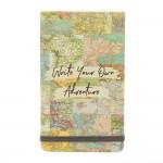 Cuaderno Notas Viaje Flip Mapa Collage