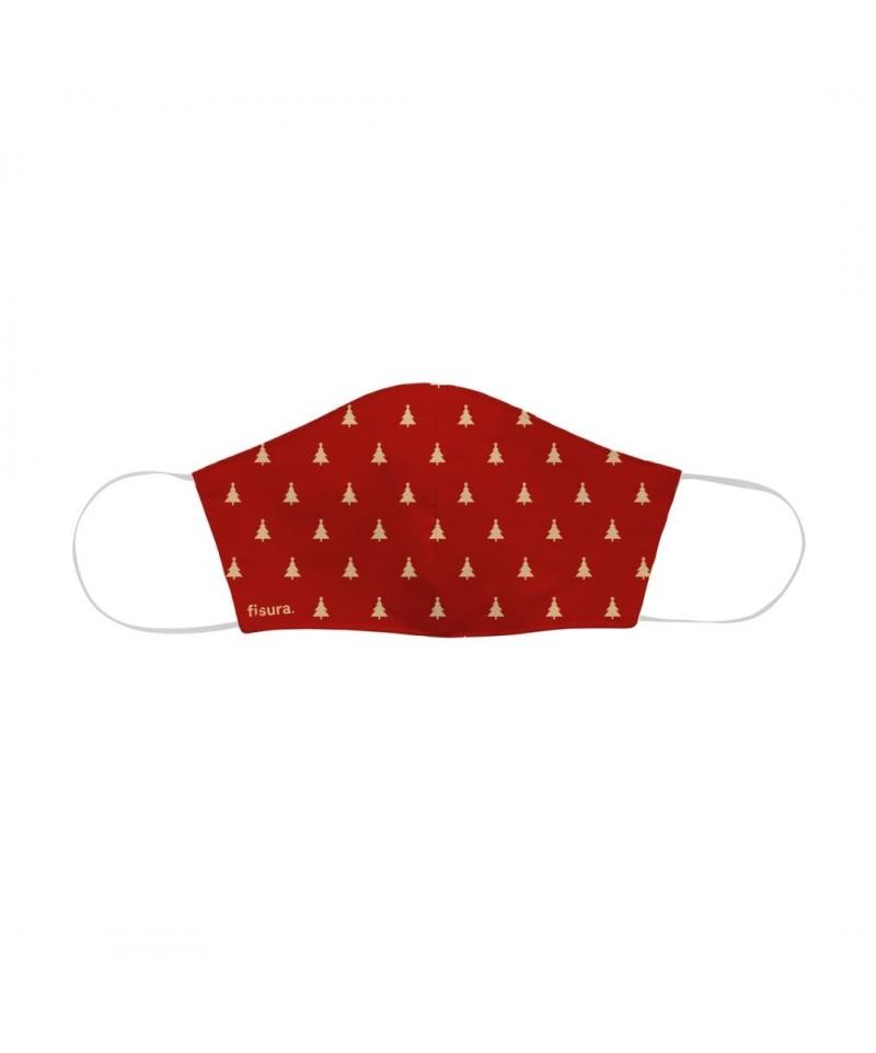 Mascarillas Arbol de Navidad rojo Fisura que neutralizan el virus