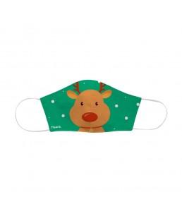 Mascarilla Reno Verde Infantil Navidad Fisura que neutralizan el virus