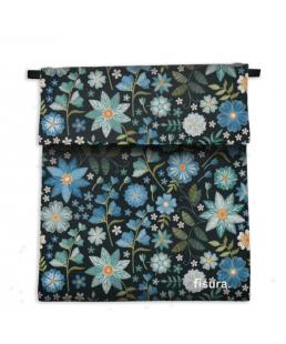Funda tela  para mascarillas flores bordadas Fisura