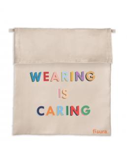 Funda tela  para mascarillas Wearing is Caring Fisura