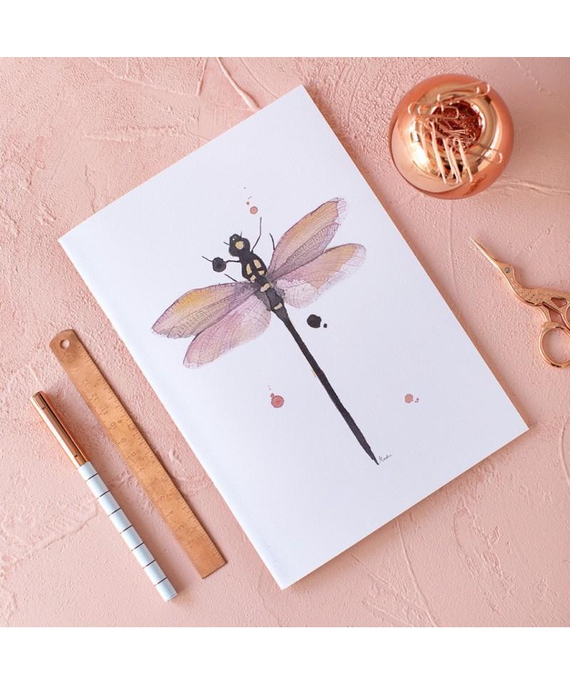 Cuaderno Libelula acuarela Marialu para Cuquiland