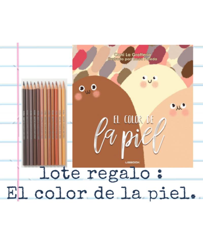 Lote Regalo Colores de la Piel y lapices color carne