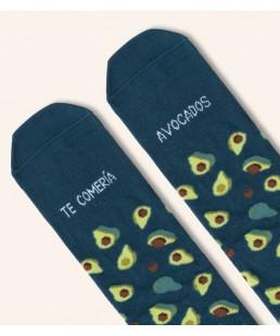 """Calcetines """"Te comería avocados"""" aguacates de UO"""