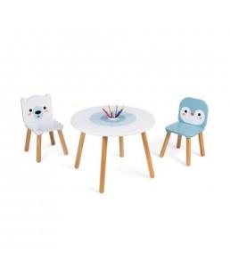 Mesa sillas infantiles Hielo Marino de Janod