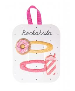 """Clips de pelo """"Donut and milkshake"""" de Rockahula Kids"""