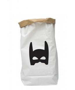 PAPER BAG SUPERHERO BLACK
