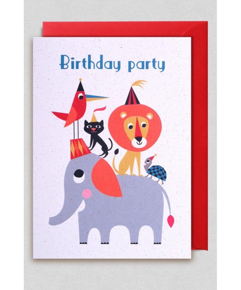 TARJETA BIRTHDAY PARTY ANIMAL