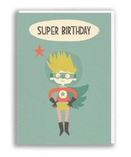 TARJETA SUPERBIRTHDAY BOY