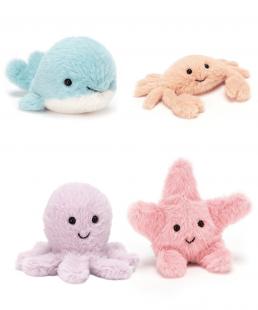 Mini Peluches Fluffy Jellycat Marinos