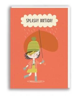 TARJETA SPLASHY BIRTHDAY